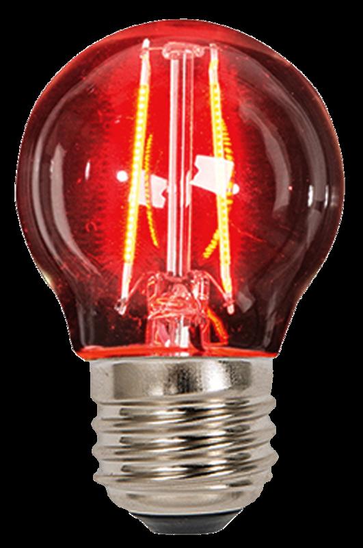 Bombilla globo de filamento LED | 2W | E27 | 127V | Rojo. Tecnolite Aplicaciones | TAMEX Tienda ...