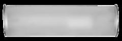 Luminario sobreponer muro incandescente 1x40w vidrio acabado opalo