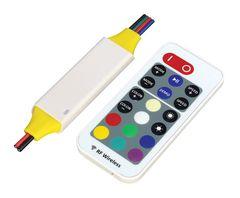 Controlador rf rgb 12v 180w ip65 con control remoto